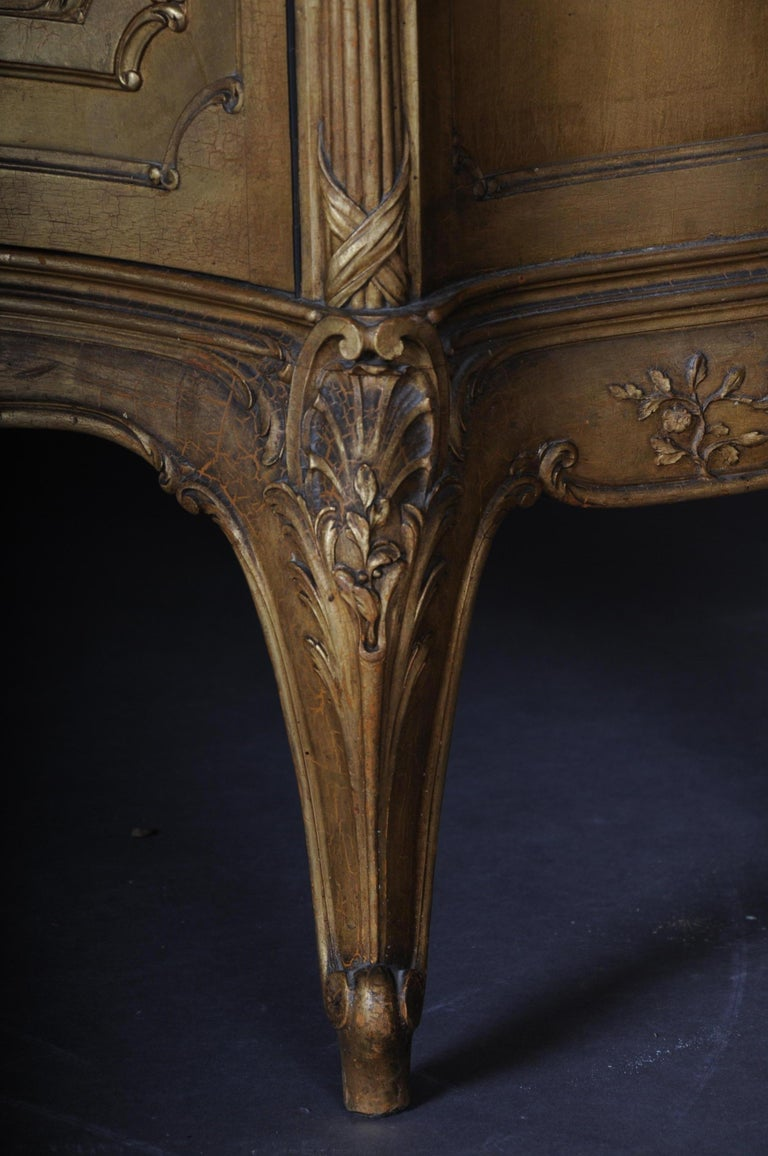 Old French Cabinets Showcase in Louis XV, circa 1900 For Sale 4