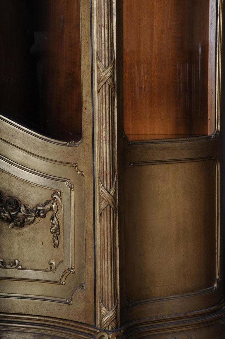 Old French Cabinets Showcase in Louis XV, circa 1900 For Sale 5