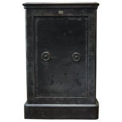 Old French Iron Safe from Foretier Freres, circa 1920