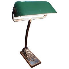 Old French Notary or Bankers Desk Lamp, circa 1930