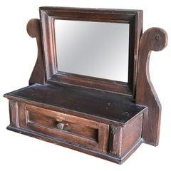 Old German Style Wood Mirror