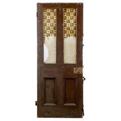 Old Glazed Victorian Interior Door, 20th Century