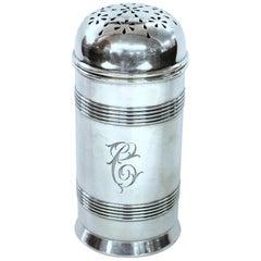 Old Gorham Sterling Silver Bullet-Shaped Sugar Dredger or Muffineer