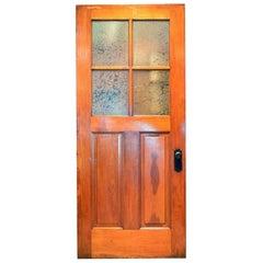 Old-Growth Douglas Fir Half View 4-Pane Door