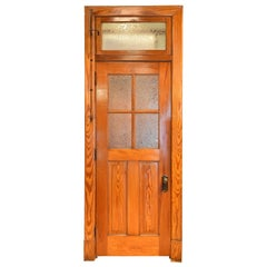 Old-Growth Douglas Fir Transom Door Unit 1/2 View 4 Panes