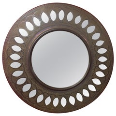 Old Hammered Copper Mirror, circa 1950