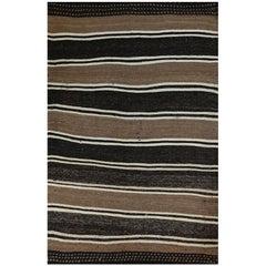 Old Handwoven Kilim Area Rug
