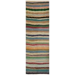 Old Handwoven Persian Kilim Runner Rug