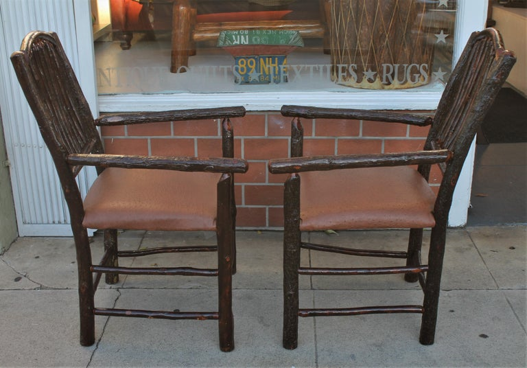 This pair of Old Hickory armchairs are in great sturdy condition.