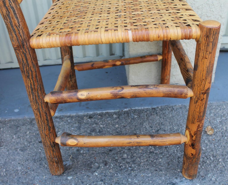Old Hickory Camp Chairs or Set of Six For Sale 4