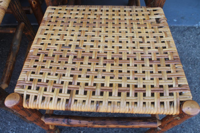Mid-20th Century Old Hickory Camp Chairs or Set of Six For Sale