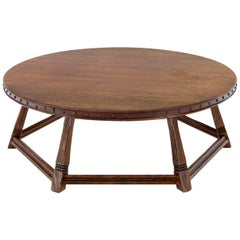 Old Hickory Martinsville Arts & Crafts Round Oak Coffee Table