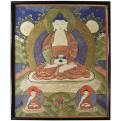 Old Himalayan Painting of Buddha