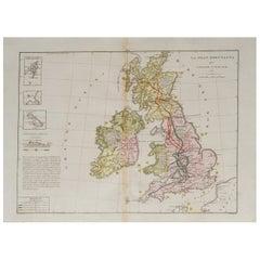 Old Horizontal Map of England