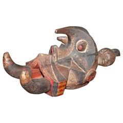 "Old Igbo ""Izzi"" Elephant Mask, Nigeria, African Sculpture"