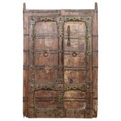 Old Indian Teak Doors/Panel, 20th Century