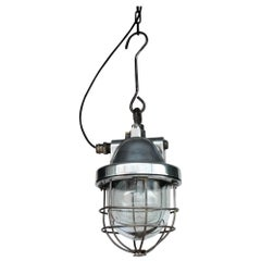"Old Industrial Ceiling Lamp ""Big Hook"", France, circa 1960-1969"
