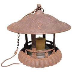 "Old Japan Lantern ""Flowers & Vines"" Motif"
