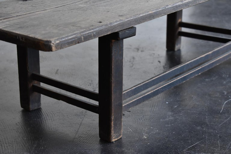 Old Japanese Chestnut Desk / Edo Period-Meiji Period / Coffee Table/ Low Table For Sale 6