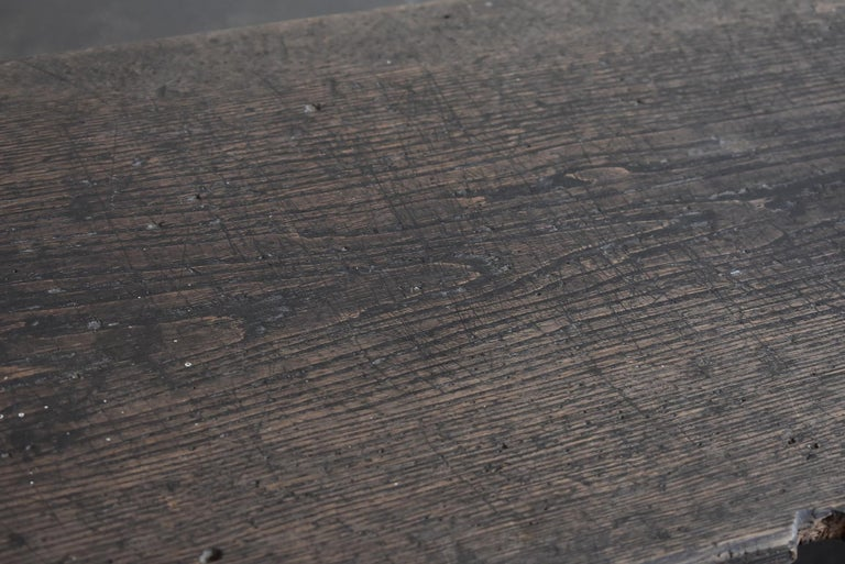 Old Japanese Chestnut Desk / Edo Period-Meiji Period / Coffee Table/ Low Table For Sale 9