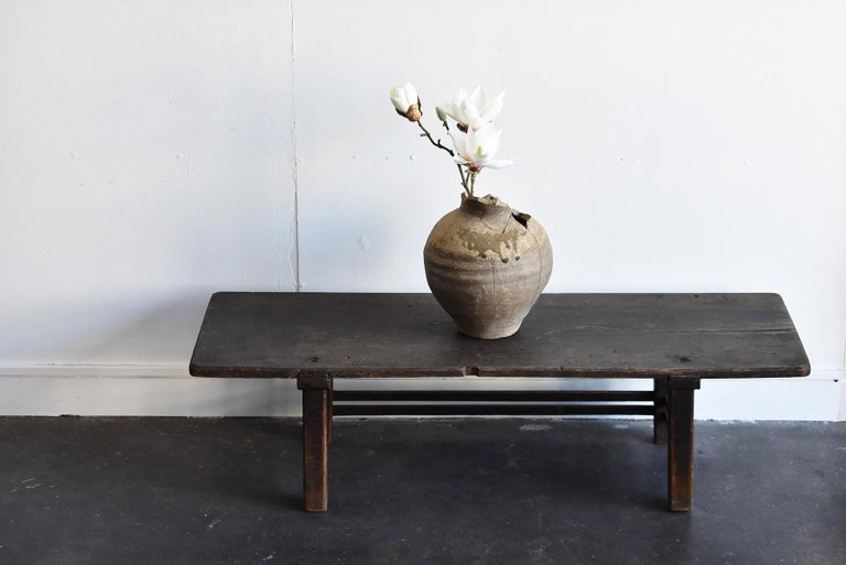 Old Japanese Chestnut Desk / Edo Period-Meiji Period / Coffee Table/ Low Table For Sale 14