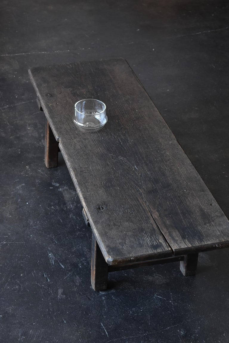 Old Japanese Chestnut Desk / Edo Period-Meiji Period / Coffee Table/ Low Table For Sale 15
