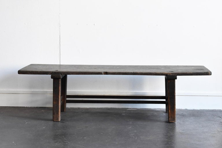 Woodwork Old Japanese Chestnut Desk / Edo Period-Meiji Period / Coffee Table/ Low Table For Sale