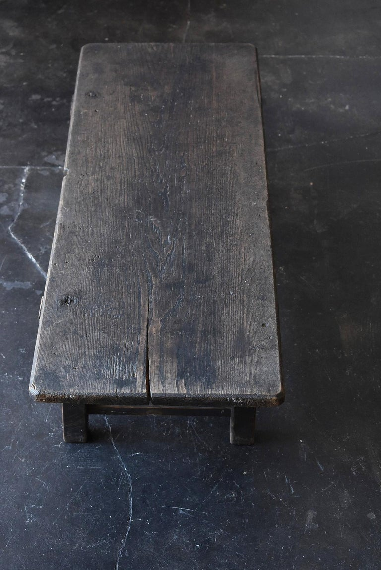 Old Japanese Chestnut Desk / Edo Period-Meiji Period / Coffee Table/ Low Table For Sale 3