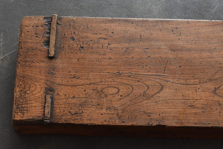 Old Japanese Craftsman's Workbench / Bench Seat / Exhibition Stand & Table/Showa For Sale 4