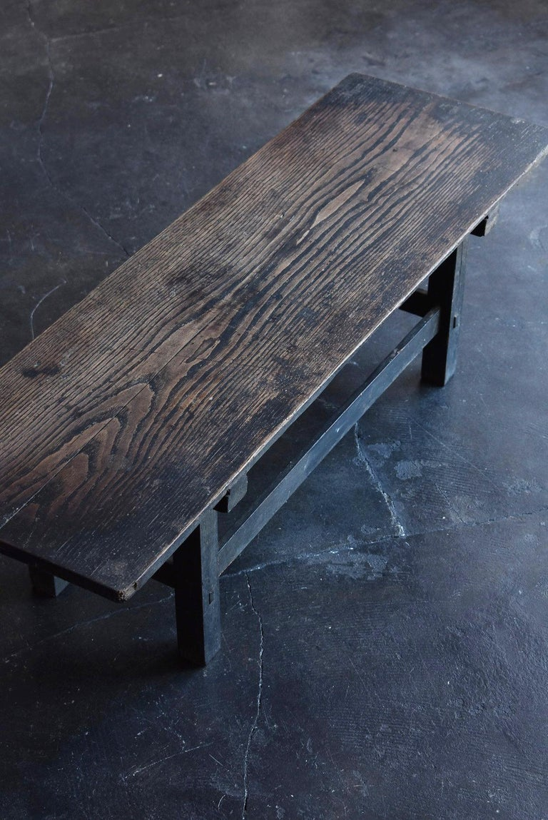 Old Japanese Desk Edo-Meiji Period '1800s' Chestnut Antique Table/Low Table For Sale 5