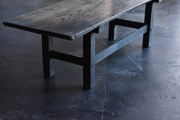 Old Japanese Desk Edo-Meiji Period '1800s' Chestnut Antique Table/Low Table For Sale 6