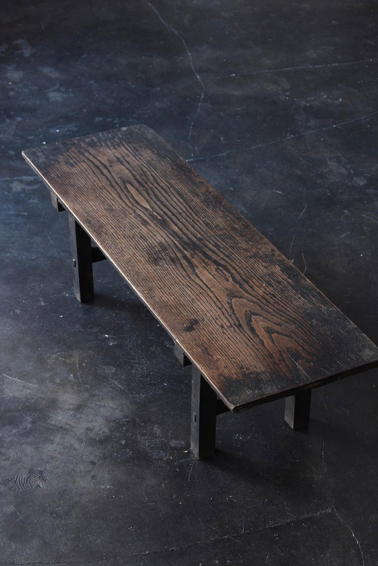 Old Japanese Desk Edo-Meiji Period '1800s' Chestnut Antique Table/Low Table For Sale 12