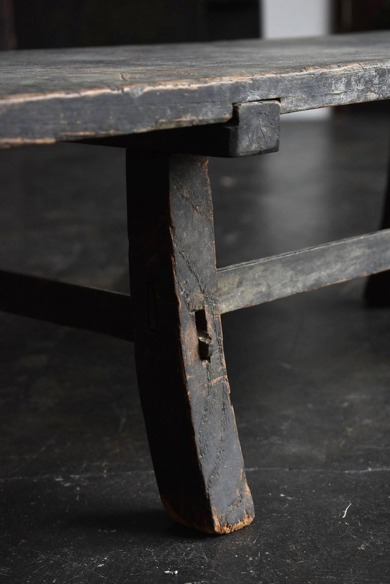 Old Japanese Desk Edo Period '1700s-1800s' Zelkova Antique Table or Low Table 4
