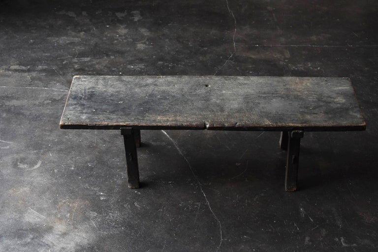Old Japanese Desk Edo Period '1700s-1800s' Zelkova Antique Table or Low Table 6