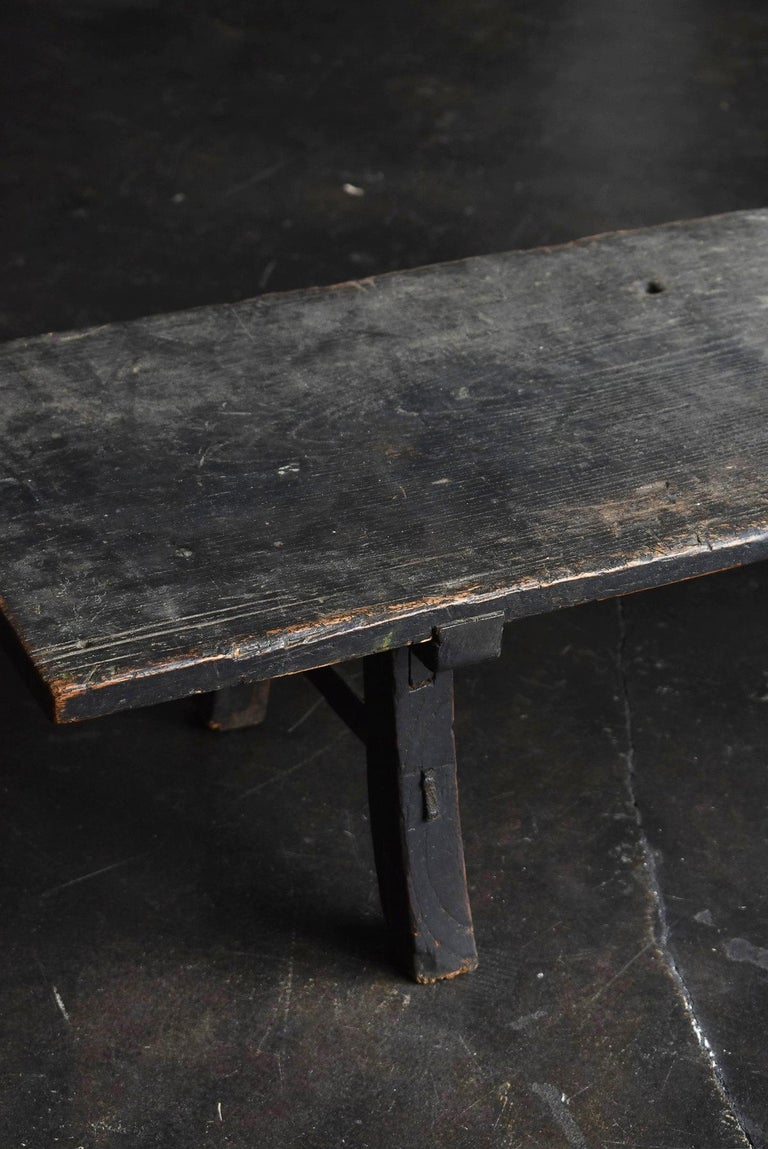 18th Century and Earlier Old Japanese Desk Edo Period '1700s-1800s' Zelkova Antique Table or Low Table
