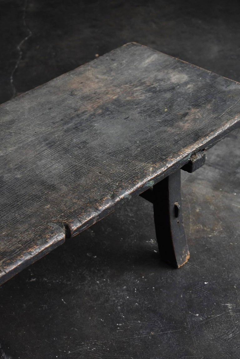Other Old Japanese Desk Edo Period '1700s-1800s' Zelkova Antique Table or Low Table
