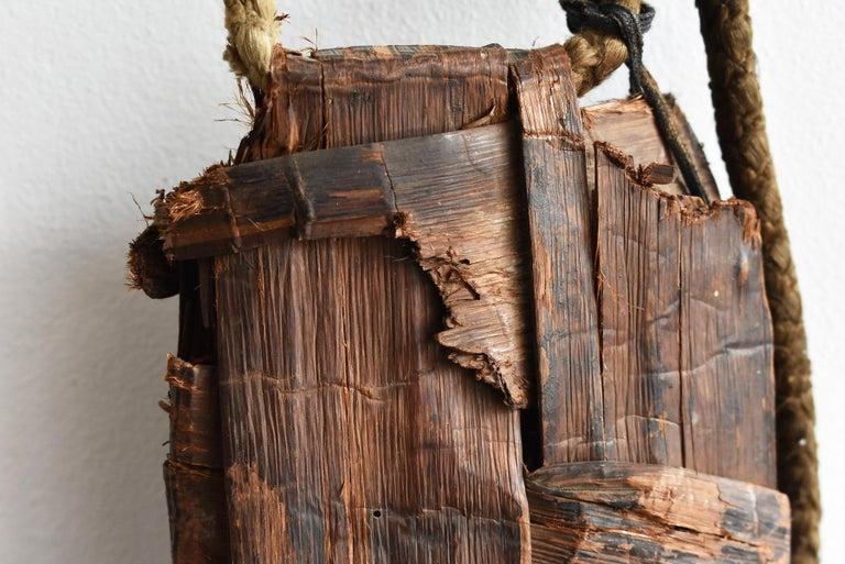 Old Japanese Folk Art / Farmer's Tools Made of Bark / Vase / Flower Basket For Sale 6