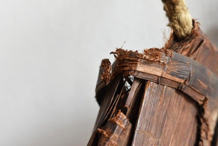Old Japanese Folk Art / Farmer's Tools Made of Bark / Vase / Flower Basket For Sale 7