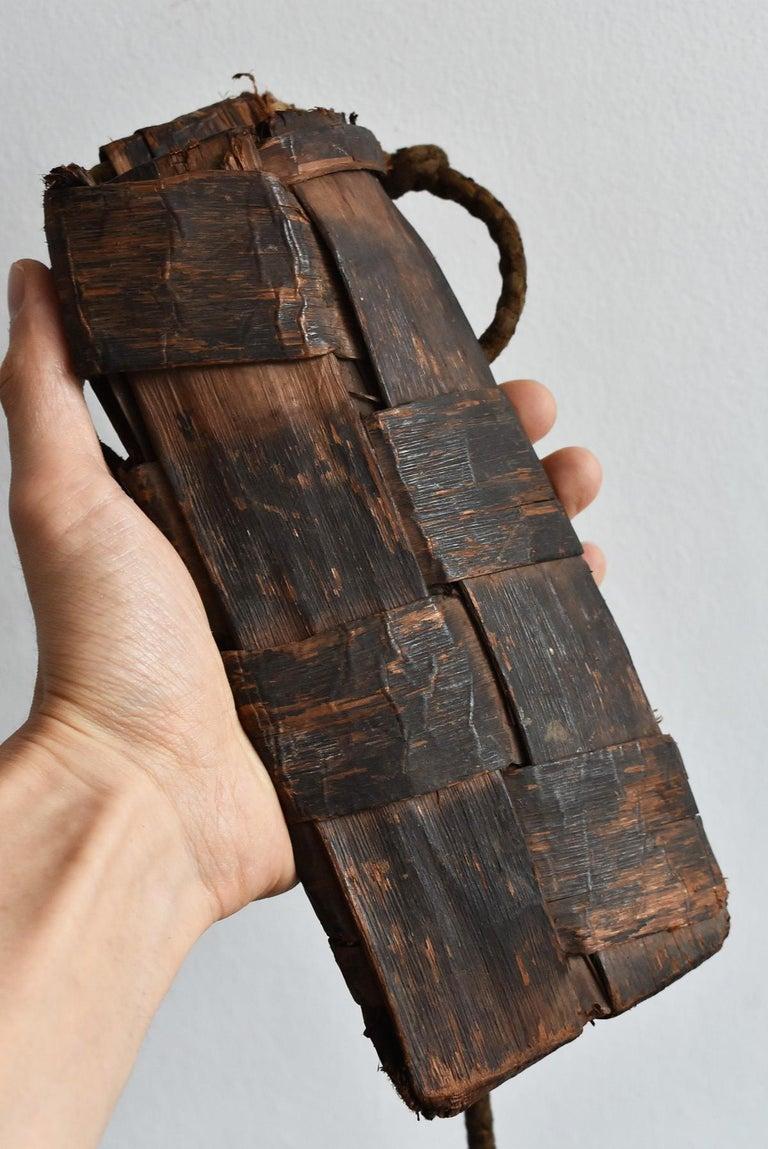 Old Japanese Folk Art / Farmer's Tools Made of Bark / Vase / Flower Basket For Sale 12