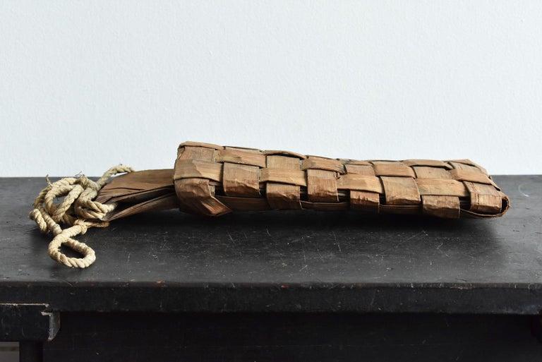 Old Japanese Folk Art / Farmer's Tools Made of Bark / Wall Hangings Vase For Sale 8