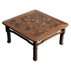 Old Japanese Patchwork Low Table / Antique Coffee Table / Antique Low Desk