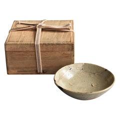 "Old Japanese Pottery ""Karatsum Ware"" 16th-17th Century / Kintsugi Plate"