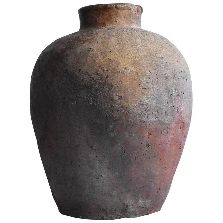 Old Japanese Vase 1400-1500 Mid-Muromachi Period Bizen Jar / Tsubo For Sale