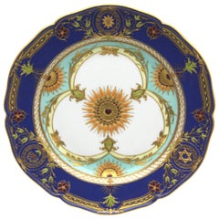 Old KPM Berlin Porcelain Plate with Rich Gold and Enamel Painting