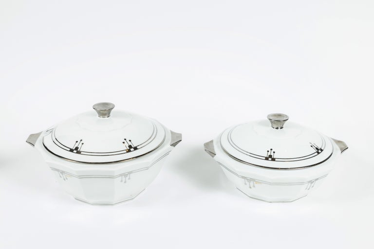 Old Limoges 'Unique' China Serving Pieces Set of 9 In Good Condition For Sale In Pasadena, CA
