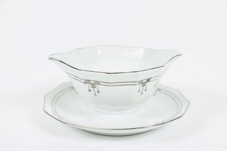 Porcelain Old Limoges 'Unique' China Serving Pieces Set of 9 For Sale