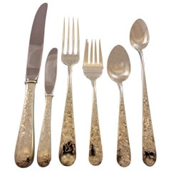 Old Maryland Engraved Kirk Sterling Silver Flatware Set 8 Service Dinner G Mono
