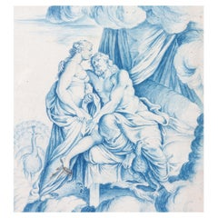 Old Master Drawing Hera and Zeus, 18th Century