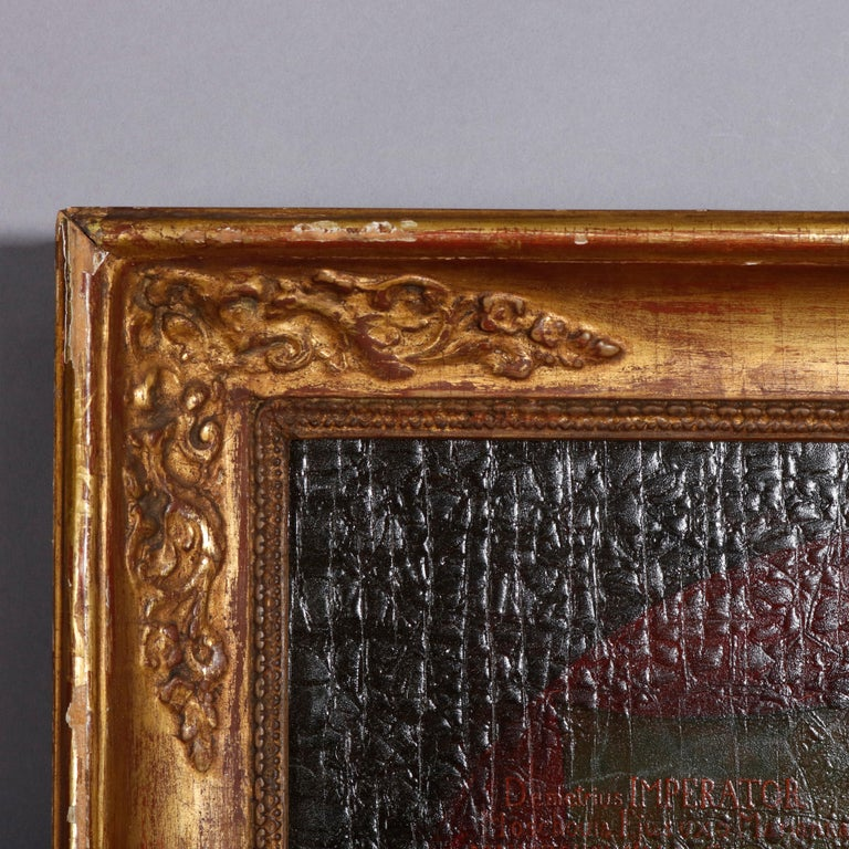 19th Century Old Master Oil on Board Russian Imperial Portrait, Premier Faux-Dmitriy For Sale