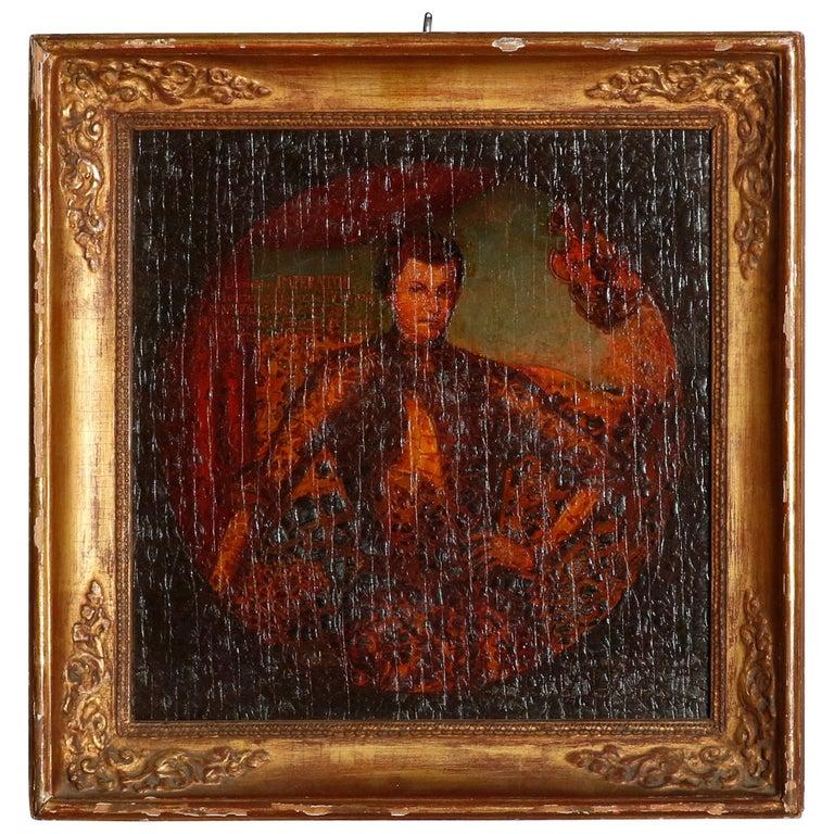 Old Master Oil on Board Russian Imperial Portrait, Premier Faux-Dmitriy For Sale